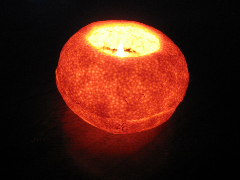 Tangerine_candle
